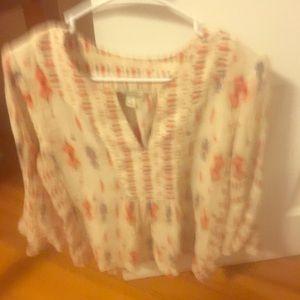 Southwest print blouse